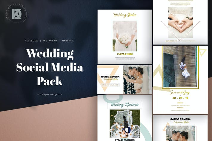 Thumbnail for Wedding Social Media Pack