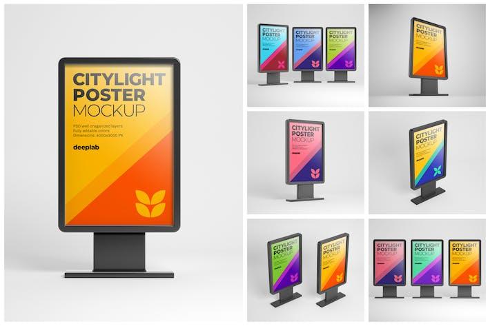 Thumbnail for Mockup Affiche Citylight | Publicité de rue