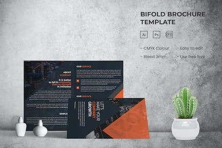 Company Growth - Bifold Brochure Template