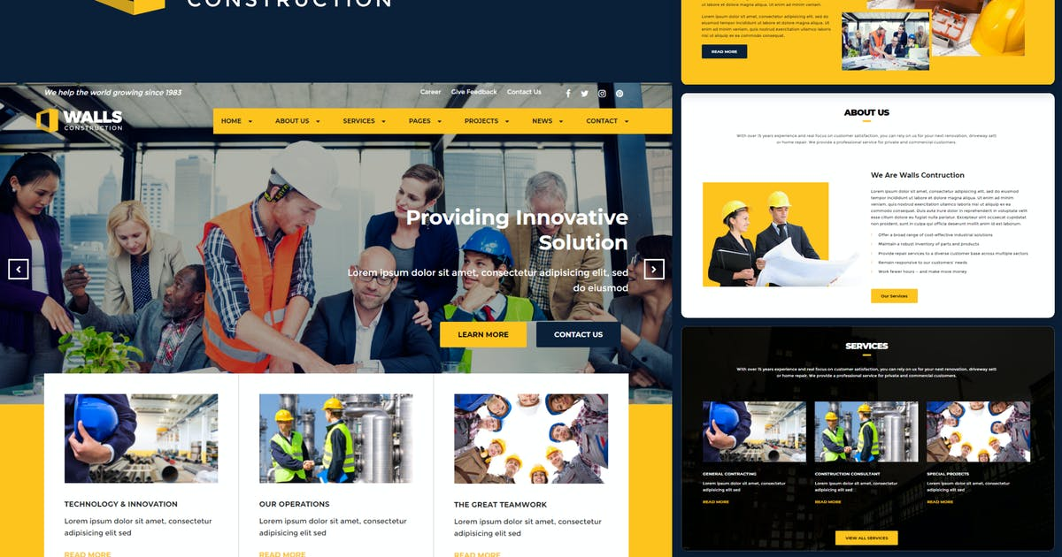 Download Walls - Construction HTML Template by rudhisasmito
