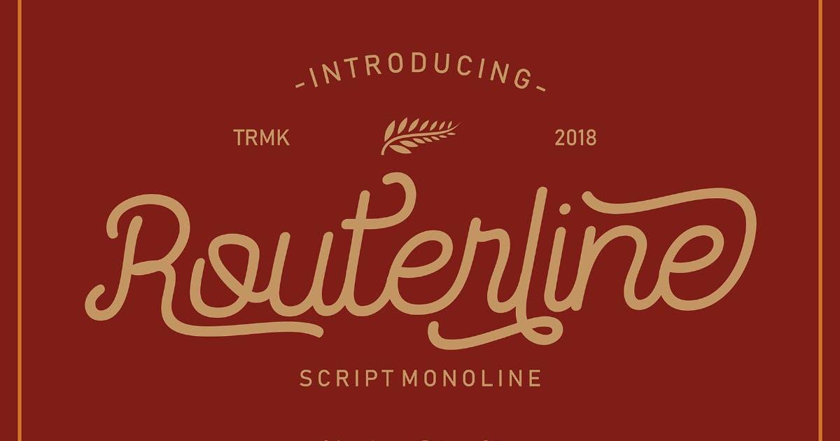 Download VT Routerline Monoline Script Font by MartypeCo