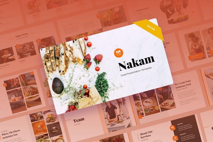 Thumbnail for Nakam - Food & Restaurant Google Slides