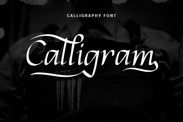 Thumbnail for Calligram - Fuente de caligrafía elegante