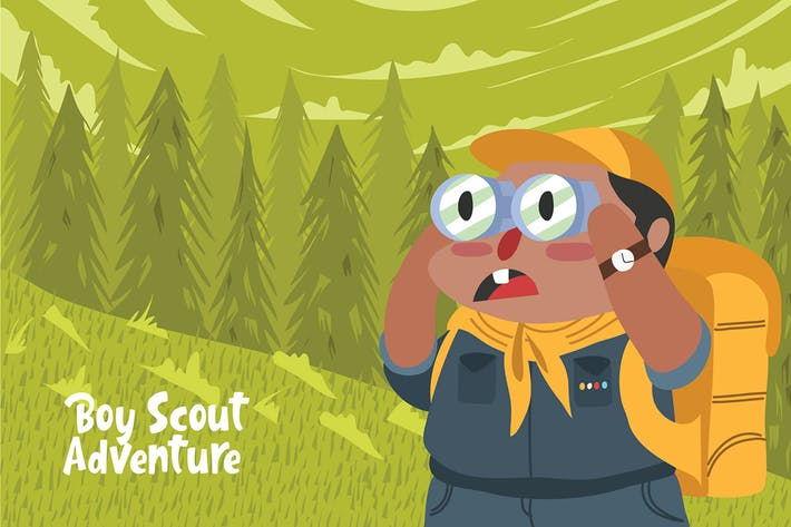 Thumbnail for Boy Scout Adventure - Vector Illustration
