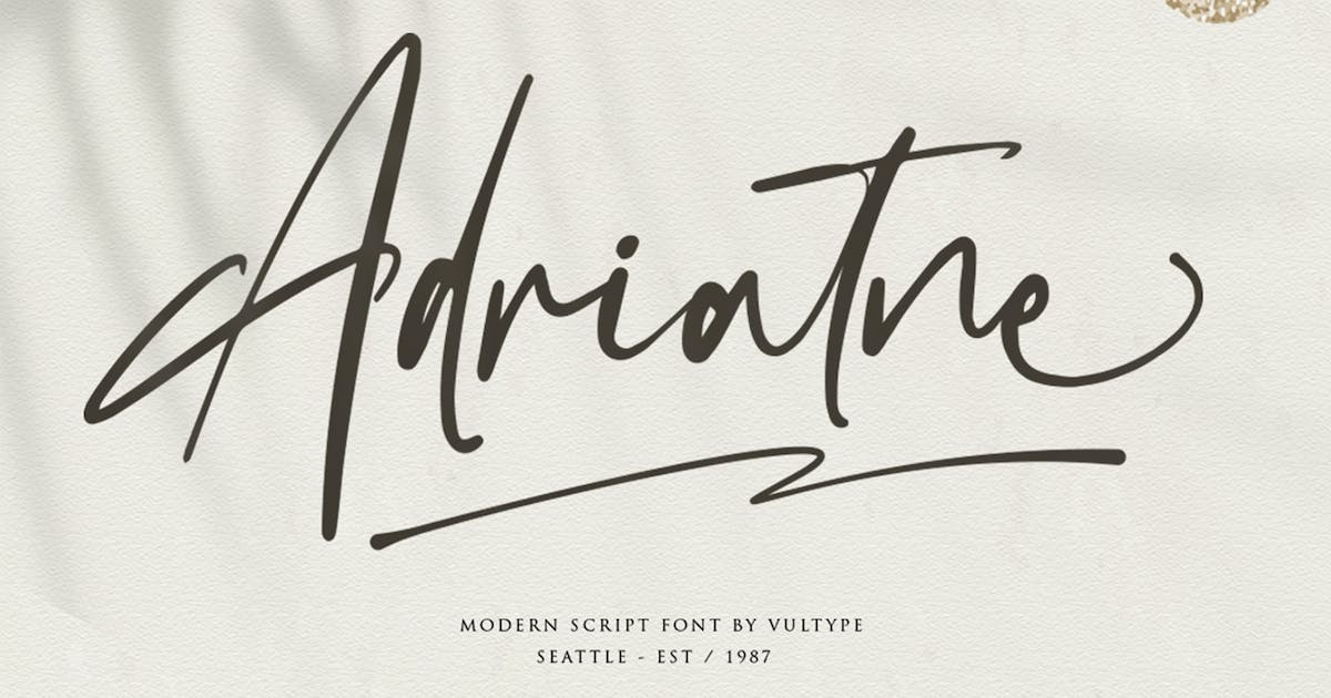 Download Adriatne - Signature Font by vultype