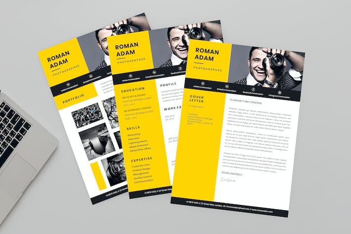 Thumbnail for Roman Photographer Resume Designer
