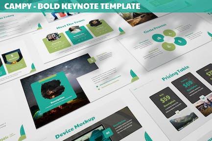 Campy - Bold Keynote Template