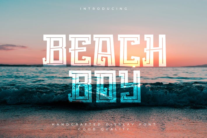 Thumbnail for Beach Boy - Tropical Sans Font