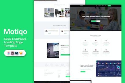 Saas & Startup - Landing Page Template