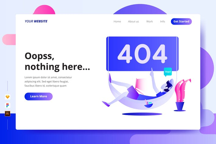 Thumbnail for 404 Error Page - Landing Page