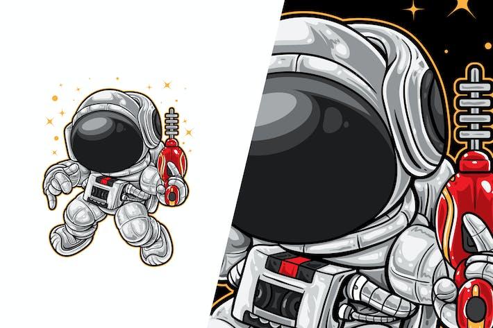 Space Ranger Tanz-Vektor-Illustration