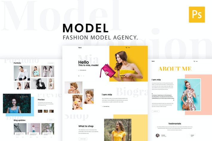 Thumbnail for Model Agency - Creative Photoshop Template