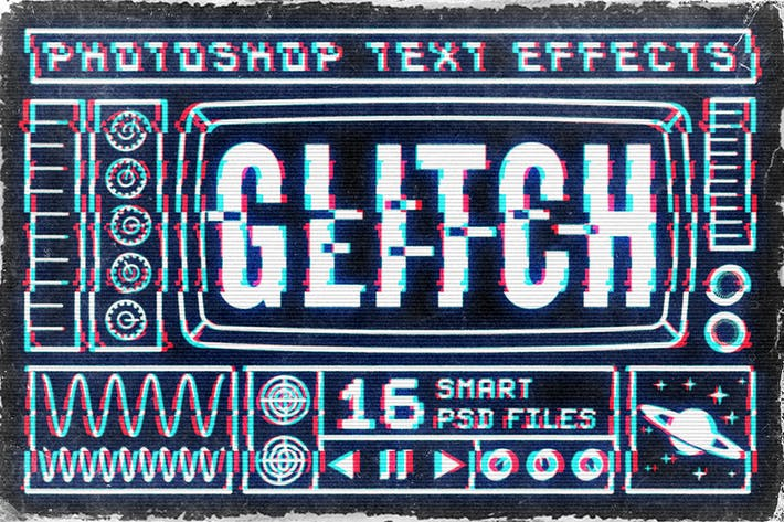 Thumbnail for Photoshop Glitch Text Effects