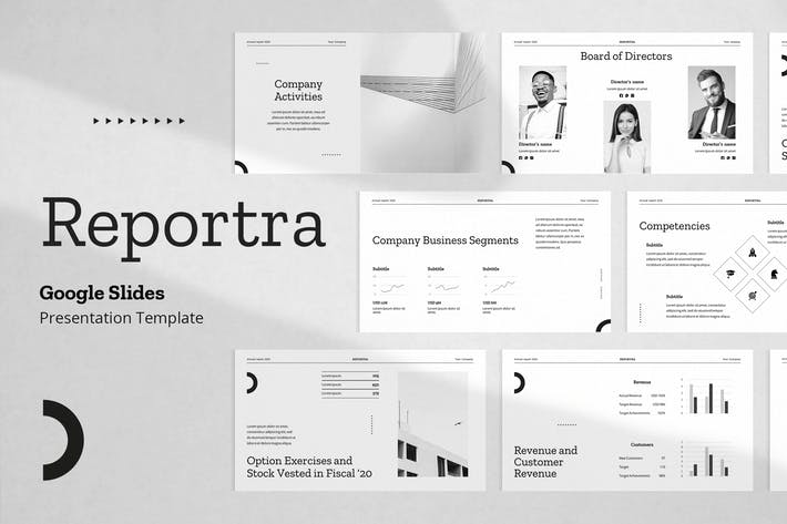 Company Annual Report Slides Template