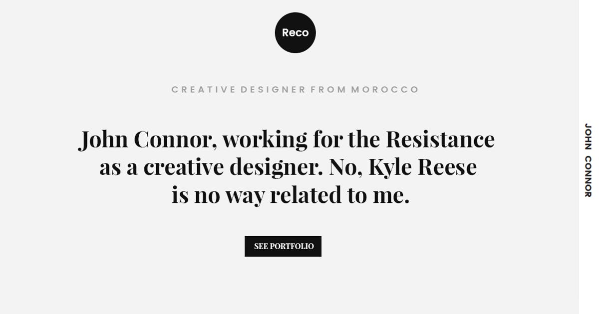 Download Reco Personal Portfolio HTML Template by YDirectionThemes