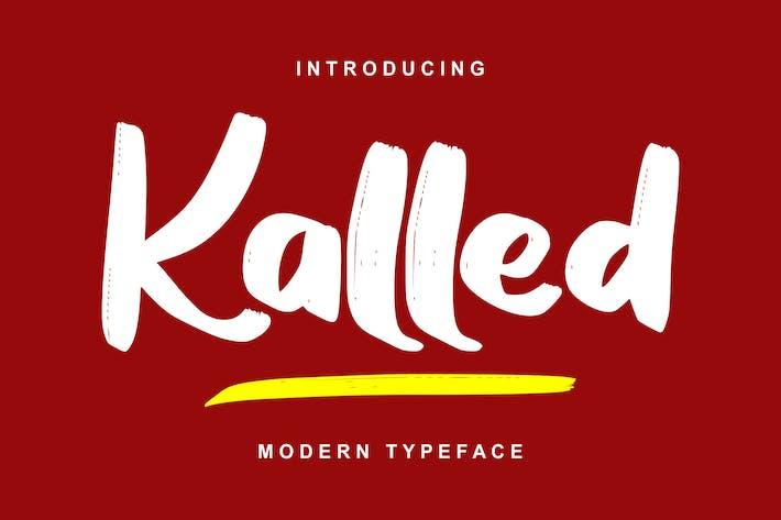 Thumbnail for Kalled | Modern Typeface Script Font