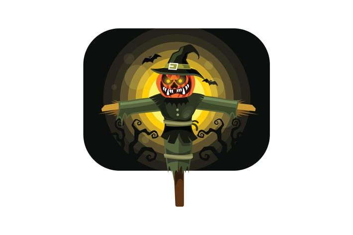 Thumbnail for Halloween Scarecrow Character