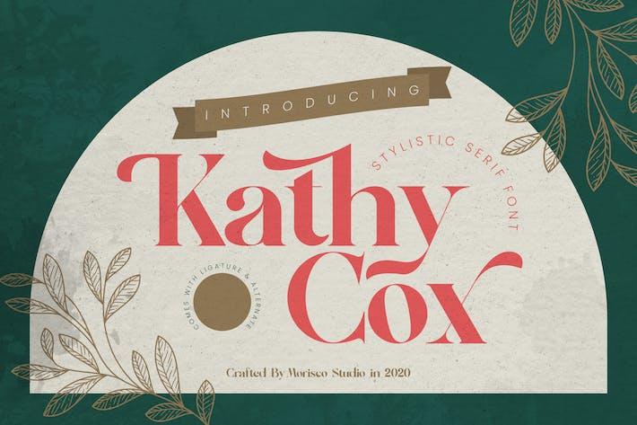 Kathy Cox - Fuente Con serifa elegante