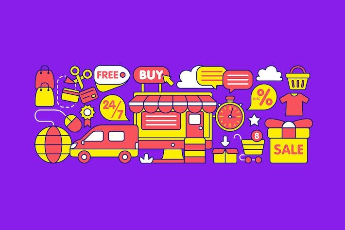 Thumbnail for Online Shop Graphic Element