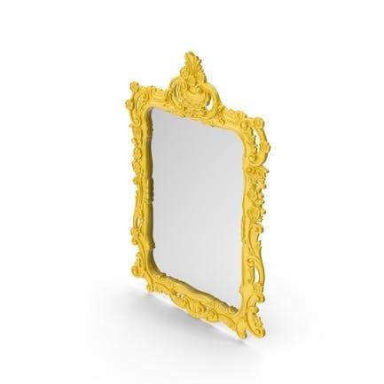 Yellow Wall Baroque Mirror