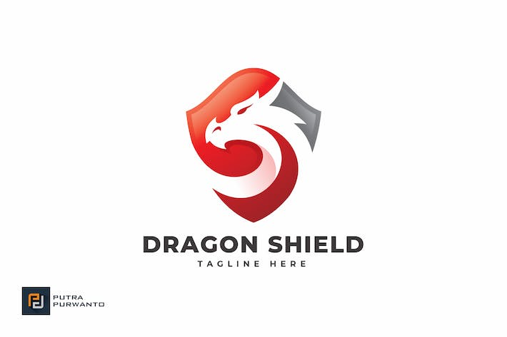 Thumbnail for Dragon Shield - Logo Template