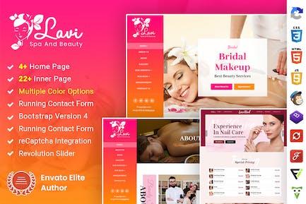 Lavi : Beauty Spa Salon Makeup Parlour Bootstrap 4