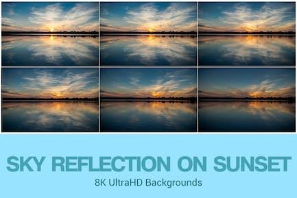 8K UltraHD Sky Reflections on Sunset Background