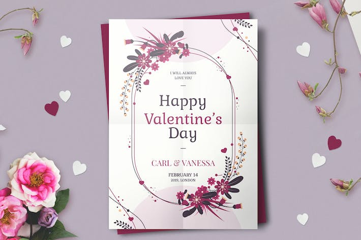 Cover Image For Valentine's day flyer template
