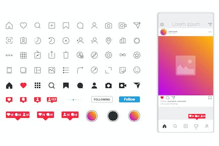 App Screen interface and icons