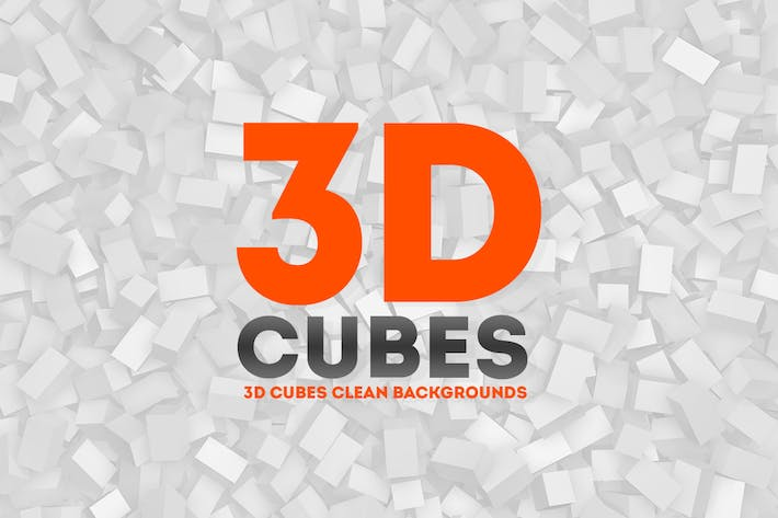 Thumbnail for 3D Cubes Clean Backgrounds