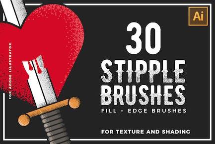 Stipple Brushes For Illustrator