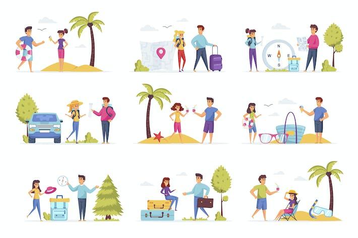 Thumbnail for Путешествие отпуск люди персонаж ситуации сцены