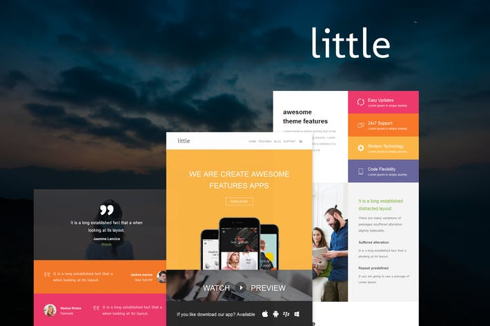 Thumbnail for Little Mail - E-mail Template