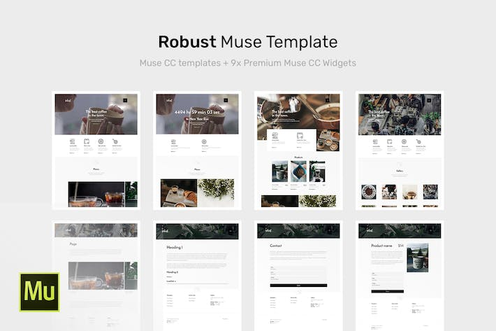 Thumbnail for Robust | Coffee Adobe Muse Template