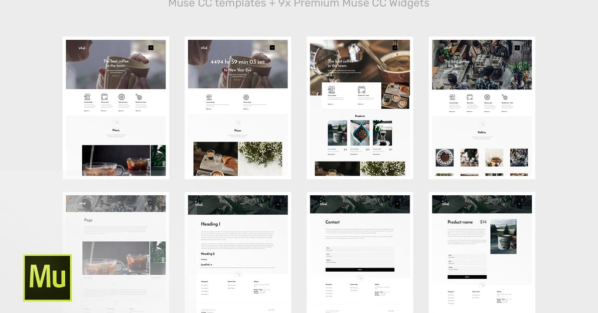Download Robust | Coffee Adobe Muse Template by roseathemes