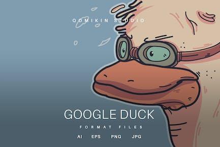 Goggle Duck Illustration