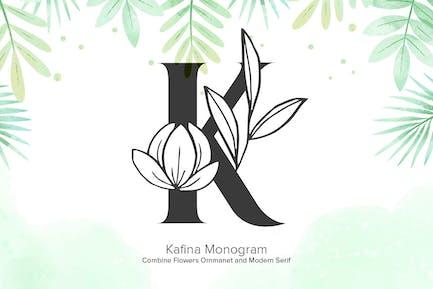 Kafina Monogram Fonts