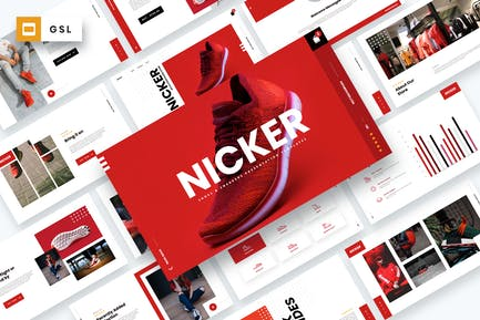 Nicker - Shoes & Sneakers Google Slides Template