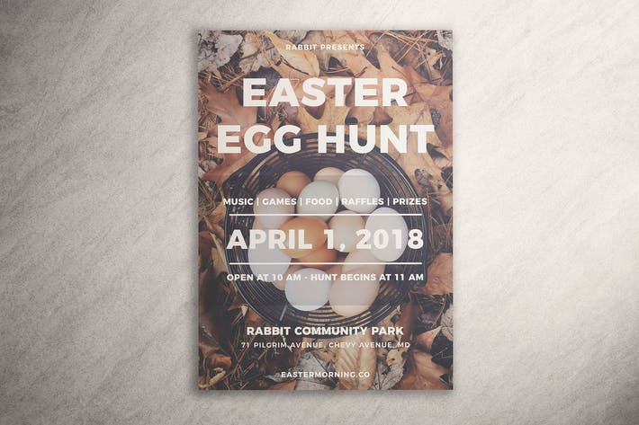 Thumbnail for Modern Easter Egg Hunt Flyer