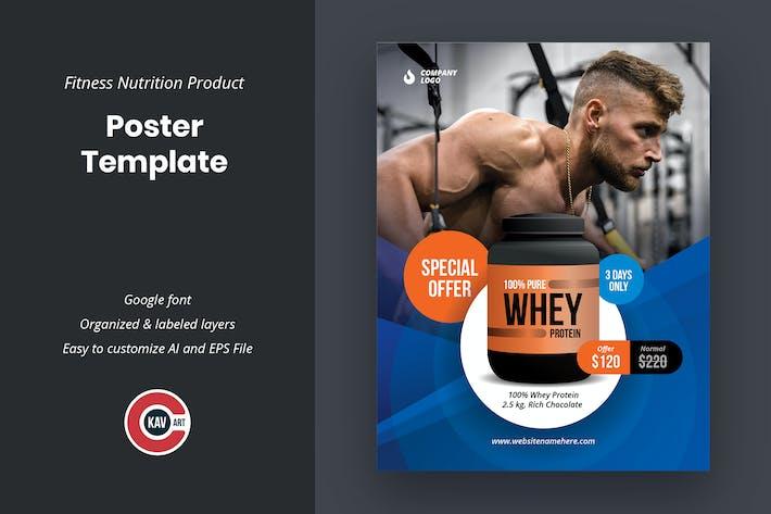 Modèle d'affiche de produit de nutrition physique