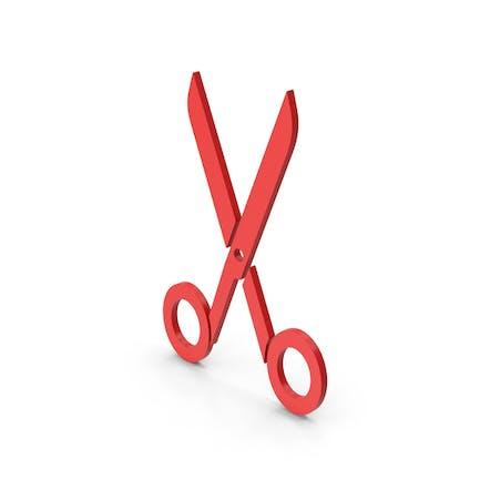Symbol Scissors Red