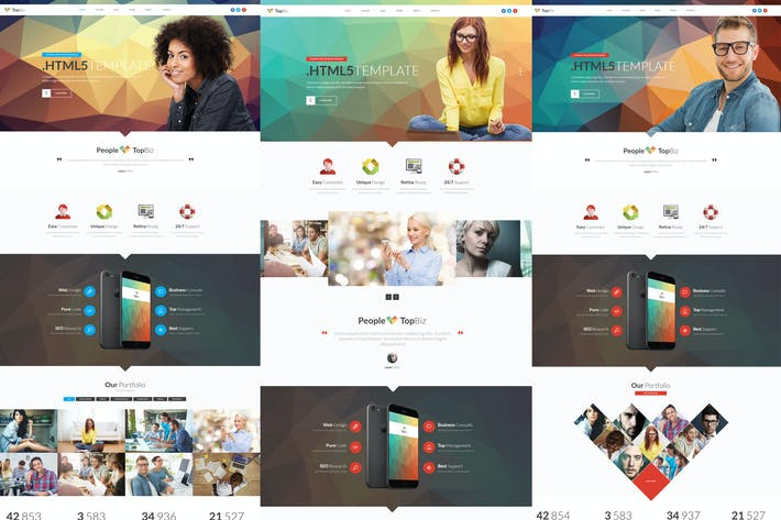 Thumbnail for TopBiz - Responsive Corporate HTML5 Template