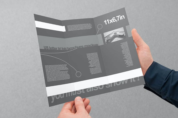 Cover Image For Tri-Fold US Letter Brochure Mock-up