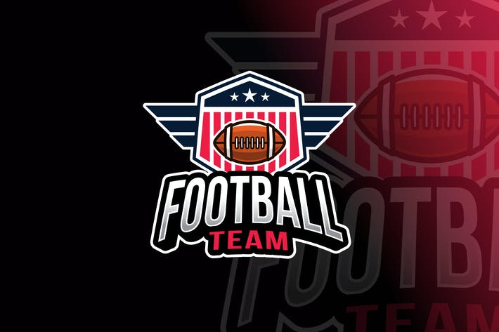 Thumbnail for American Football Logo Template