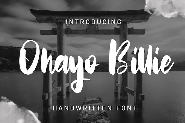 Thumbnail for Ohayo Billie | Handwritten Font