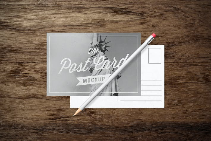 Cover Image For Postcards - MockUp