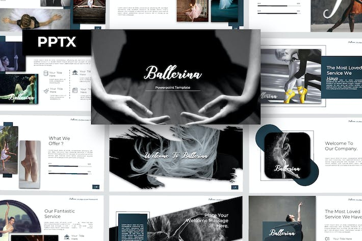 Thumbnail for Ballerina Powerpoint Template