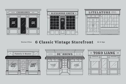 Clásico Vintage Store Frentes Escaparate