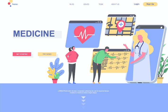 Thumbnail for Medicine Landing Page Template