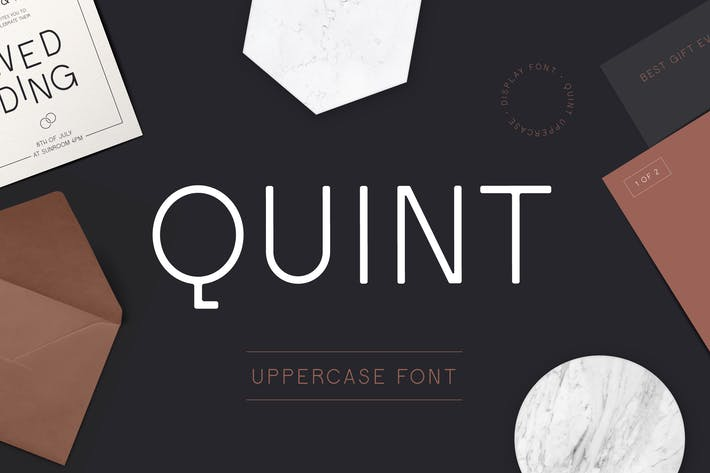 Thumbnail for Quint Uppercase Font